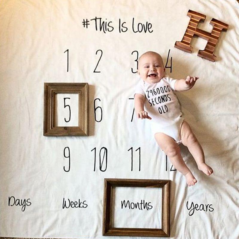 Del Muchacho del bebé Mantas Mantas de Muselina Swaddle Wrap Creativa Niños Carta Infantil DIY Fotografiado Props Recién Nacido Toalla de Baño CALIENTE