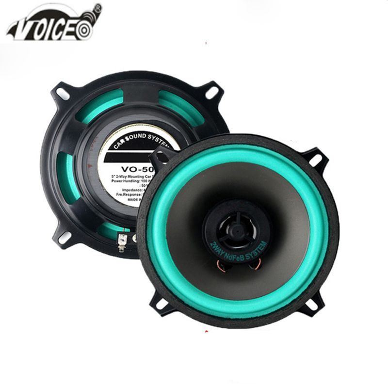 5 Inch Auto Loudspeaker Paired <font><b>Automobile</b></font> Automotive Car HiFi Coaxial Speaker 100W 4ohm 13cm Perfect Sound Audio Speaker for Car