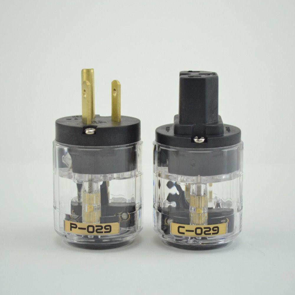 Pair Hi-End P-029 AC Power plug+C-029 power IEC plug 1pair