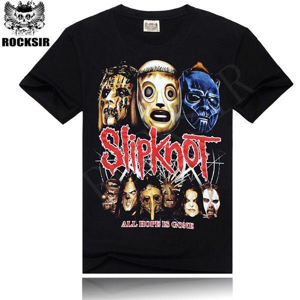 Rocksir T Shirt hommes hip-hop rock band pantoufles pour hommes t-shirt à manches courtes noir taille M-XXXL marque vêtements