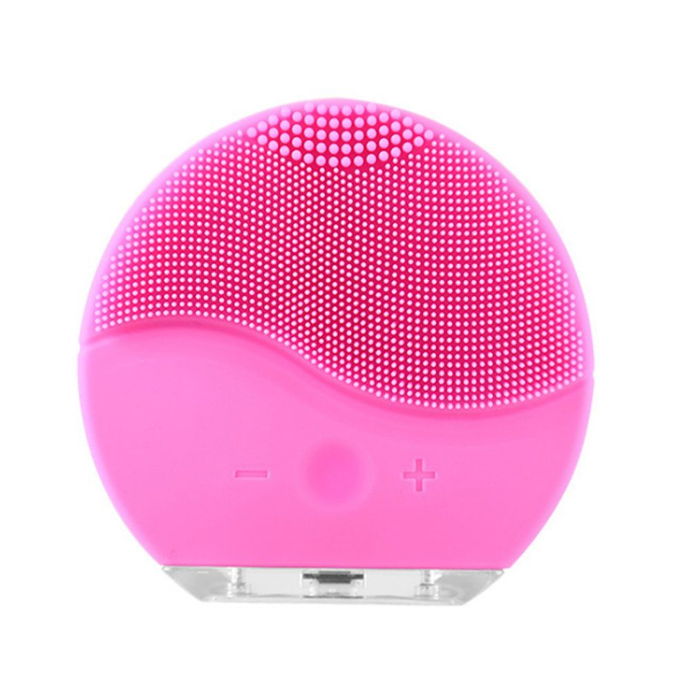 Ultrasons Électrique Nettoyage Du Visage Visage Brosse de Lavage Vibrations Peau Comédons Pore Cleaner Massage USB Rechargeable