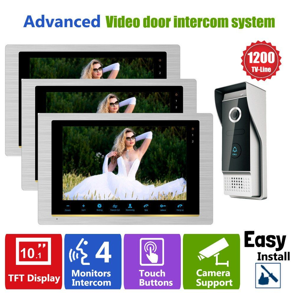 Homefong Video Intercom Tür Telefon Hohe Auflösung Intercom System Nacht Visuelle Inter-gespräch Türklingel 1V3 Tür Eintrag