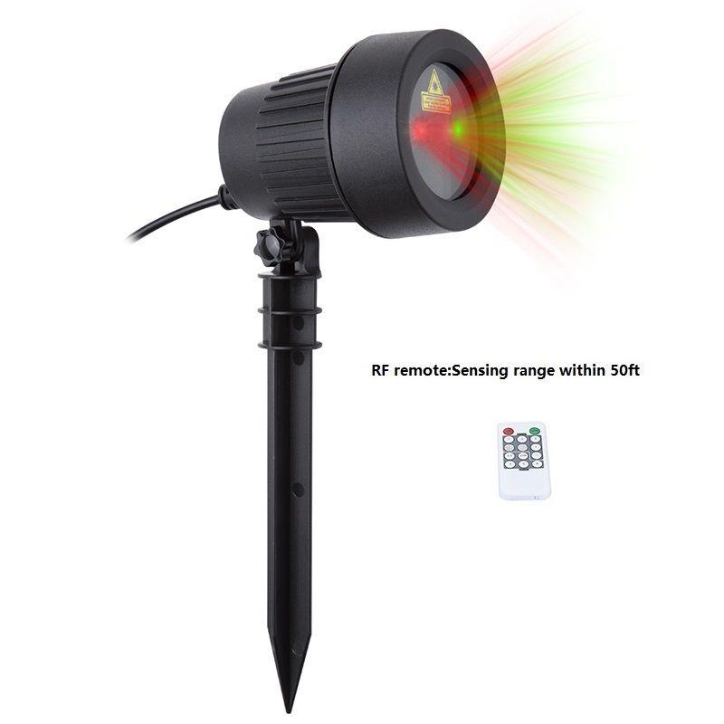 De noël Projecteur Laser Étoiles Rouge Vert Douches feux En Plein Air Étanche IP65 Jardin Décoration Statique Twinkle avec RF à distance