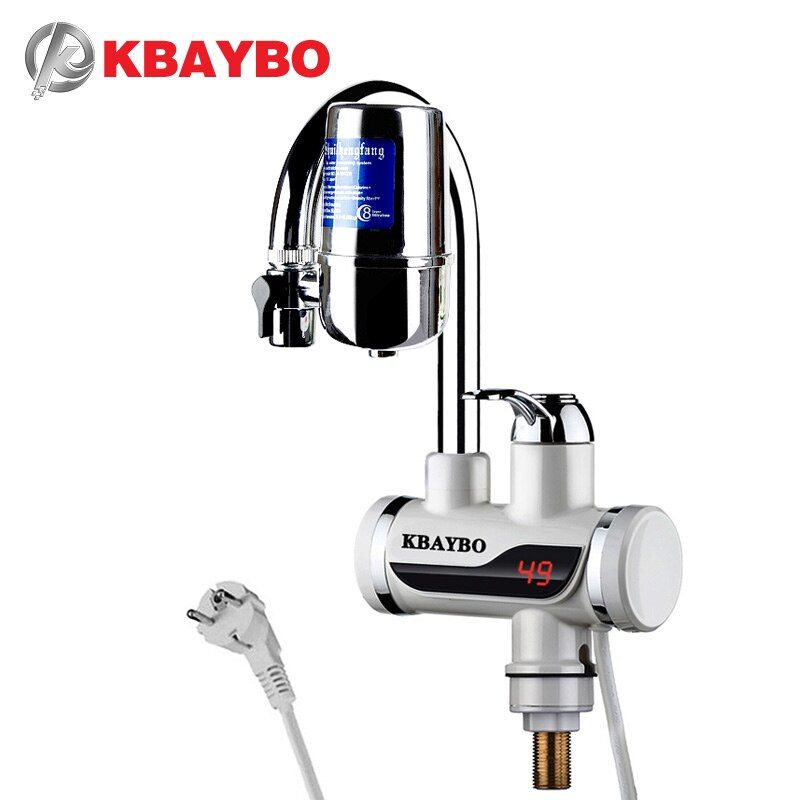 3000W Instant electric Water Heater Tap Kitchen faucet water filter 2 kinds of outlet mode can be consumed directly