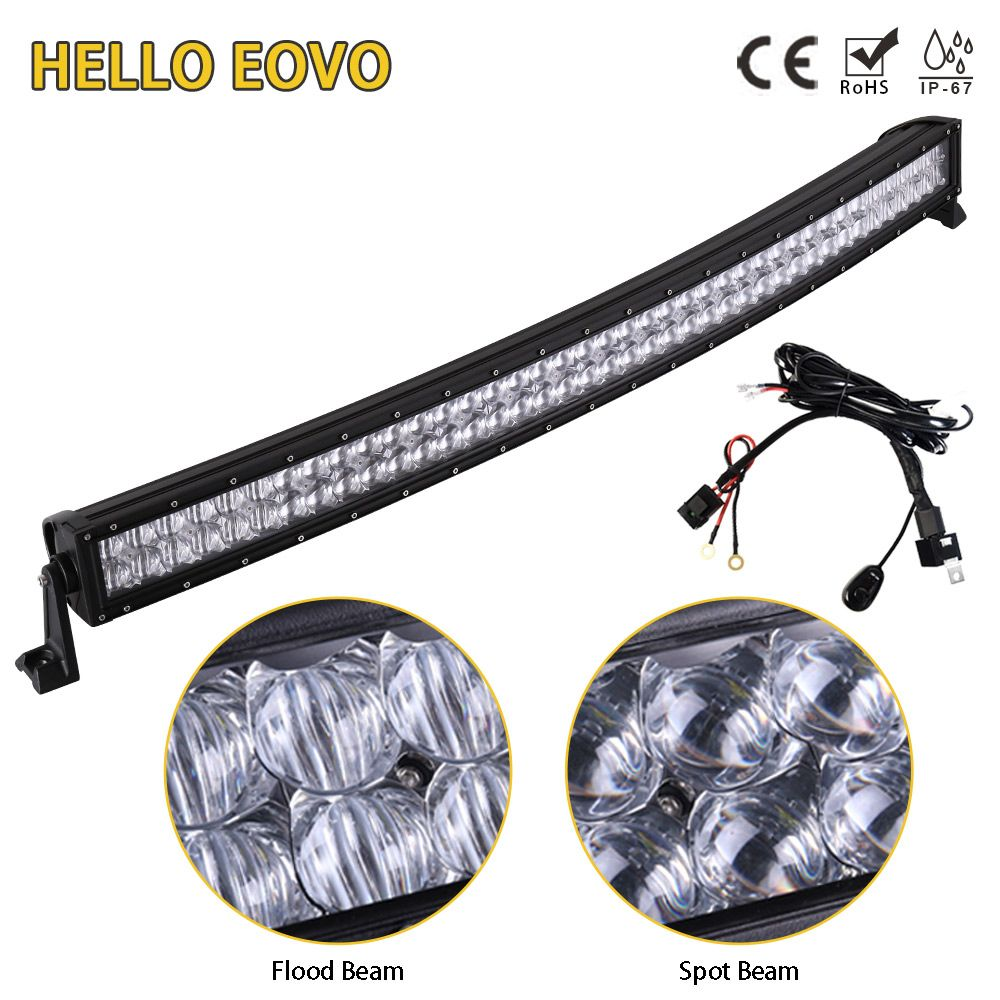 HELLO EOVO 5D 42 inch Curved LED Light Bar LED Bar Work Light for Driving Offroad Boat Car Tractor Truck 4x4 SUV ATV 12V 24V