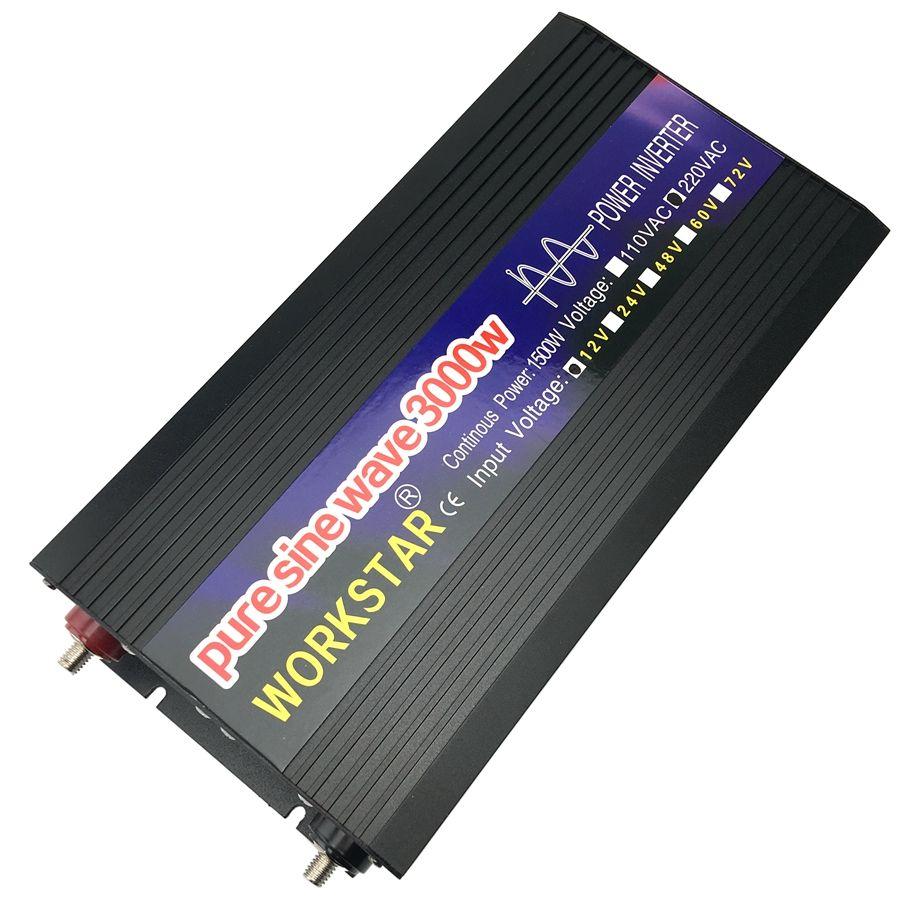 SUCHWORK Spitzen 3000 W Reine Sinus Welle OFF Grid DC12V/24 V zu AC220V 50 HZ/60 HZ power Inverter Haus-verwenden Konverter für Solar System