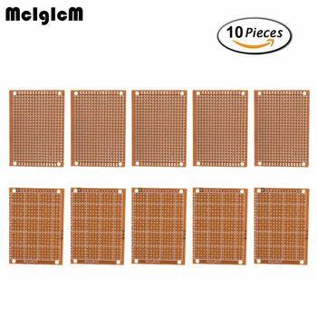 MCIGICM 10 Pcs haute quatity!! nouveau Prototype Papier Cuivre PCB Expérience Universelle Circuit Matrice 5x7 cm Marque