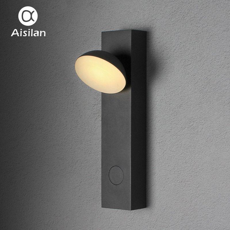 Aisilan Scandinavian Modern Minimalist Bedside Wall Lamp Adjustable LED Bedroom Creative Lighting Fixture Cozy Wall Light