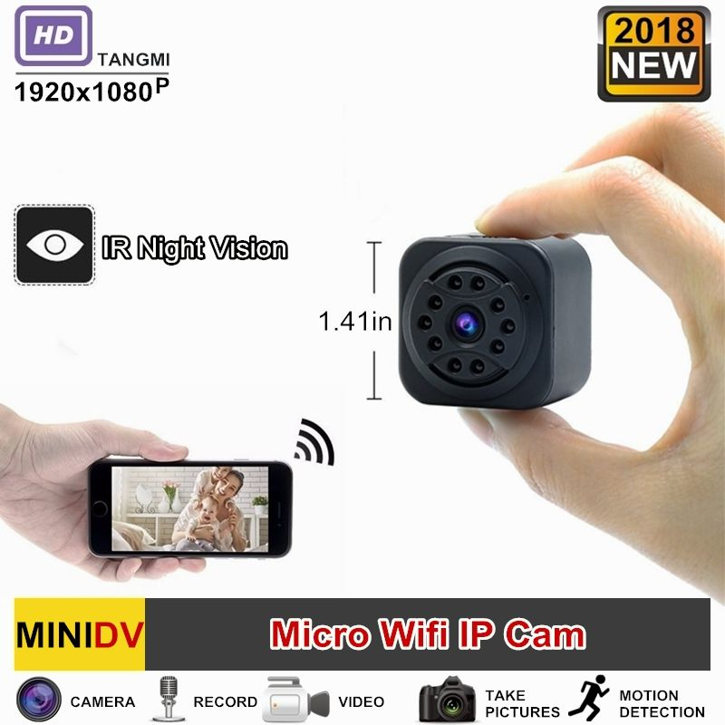 2018 New 1080P HD Wireless Wifi IP Mini Camera Night Vision With Motion Detection Portable Audio Video Micro Wireless Secret Cam