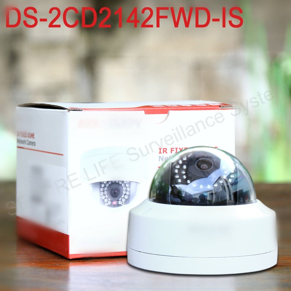 In stock English version DS-2CD2142FWD-IS 4MP mini dome network cctv camera, P2P 1080p IP camera POE 120dB WDR