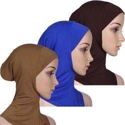 2015 Soft Muslim Full Cover Inner Women's Hijab Cap Islamic Underscarf Neck Head Bonnet Hat 76HL
