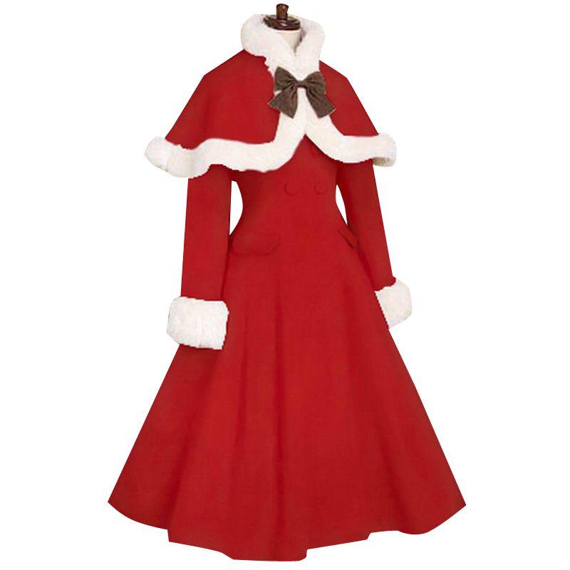 Japan Cheap Custom made Slim Wool Sweet Lolita Coat Winter Cute Coat Girls Winter Coats Brand Long Winter Coat