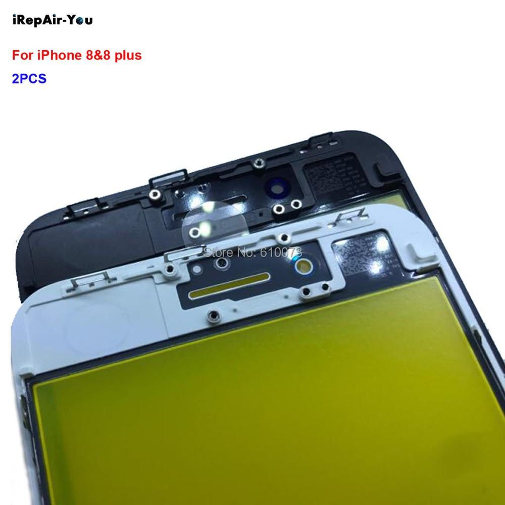2PCS/Lot iRepair-You 2 in 1 Screen Front Outer Glass+Frame Replacement For iPhone 8&8 plus Touch Panel Repair Parts