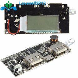 Автоматическая защита! Dual USB 5 В в 1A 2.1A мобильный запасные аккумуляторы для телефонов 18650 литиевых батарея зарядное устройство доска цифрово...