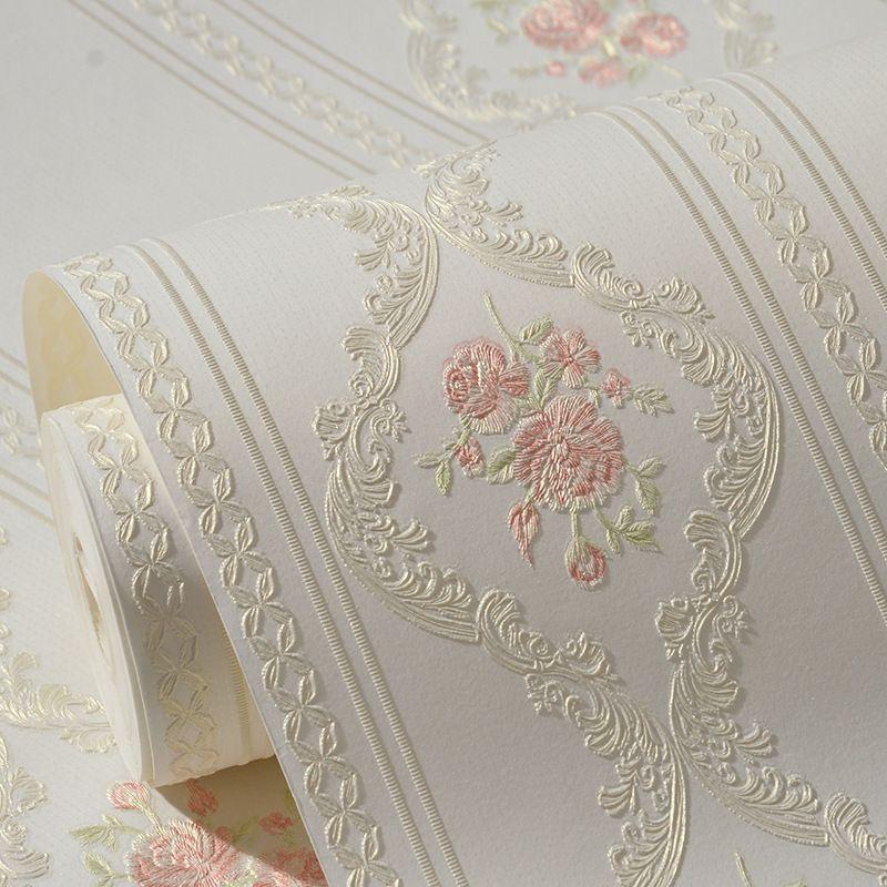 Beibehang пастырской розовые цветы обои ТВ фон Papel де Parede 3d настенной рулонная бумага для гостиной декора спальни