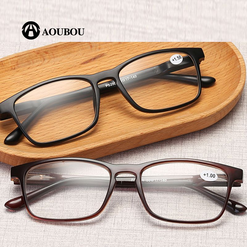 AOUBOU Brand PC Women Reading Glasses Men Big vision Redpower Oculos Dioptr For Sight Cheap Eyeglasses Sight Magnifier AB885
