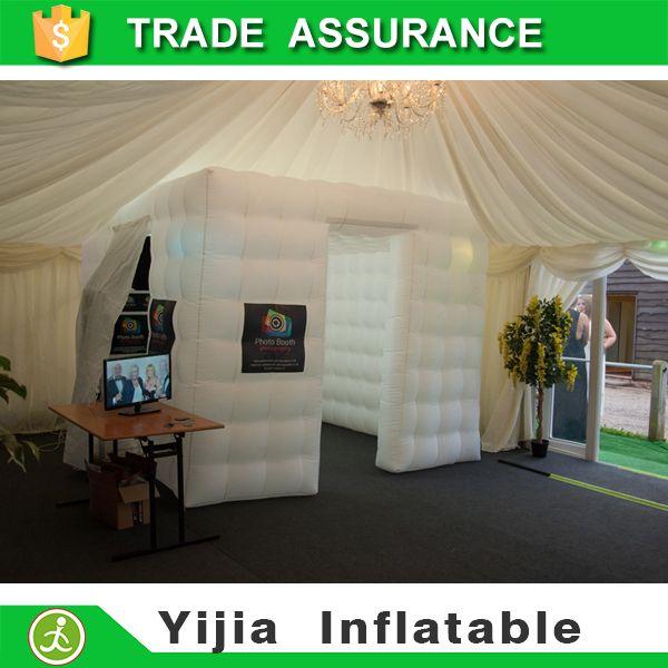 Livraison gratuite gonflable cabine cube gonflable photo booth pour la partie de mariage