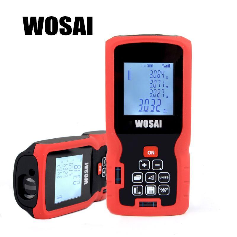 WOSAI Laser Distance Meter 40M 60M 80M 100M 120M Rangefinder Laser Tape Range Finder trena ruler Diastimeter Measure Roulette