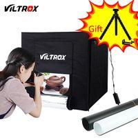 Viltrox 60*60 cm LED foto estudio Softbox luz caja suave + adaptador de CA + Fondos para Teléfono cámara DSLR joyería juguetes zapatos