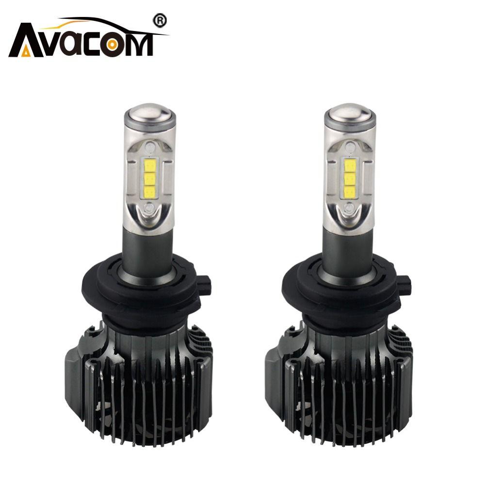 Avacom H4 LED Bulb 12V 12000lm Car Headlight Auto Bulb H1 H11 H8 LED Lamp H13 HB3 HB4 9004 9005 9006 72W 6500K 24V H7 Car Light