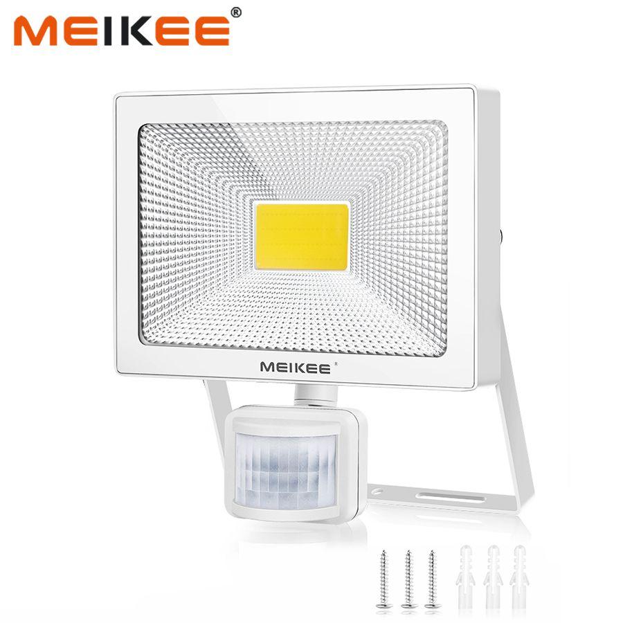 10W 20W 30W 50W LED projecteur extérieur étanche avec capteur de mouvement AC110V 220V éclairage LED IP66 pour jardin