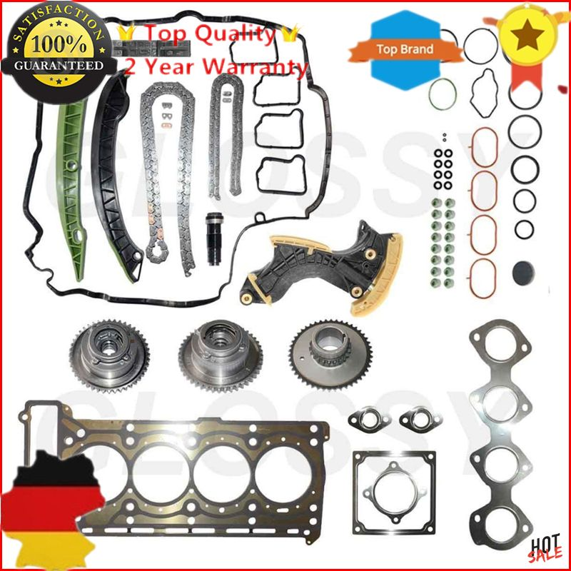 New Timing Chain Kit + Head Gasket Kit For Mercedes C,E W212 C207 S204 W204 R172 M271 A2710502747 2710503347