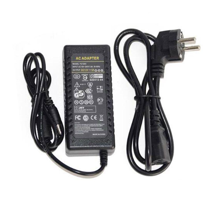 Adaptateur led 12 v 5A 60 w led alimentation pour éclairage 12 v 5000ma alimentation à découpage pour 5 m led bande 5a alimentation pour led bande