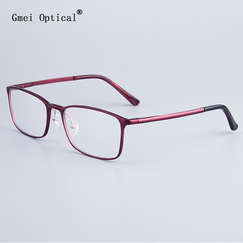 Fashion Full-Rim Eyeglasses Frame Brand Designer Business Men Frame Hydronalium Glasses With Spring Hinge On Legs