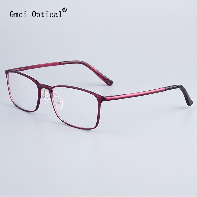 Fashion Full-Rim Eyeglasses Frame Brand Designer Business Men Frame Hydronalium <font><b>Glasses</b></font> With Spring Hinge On Legs