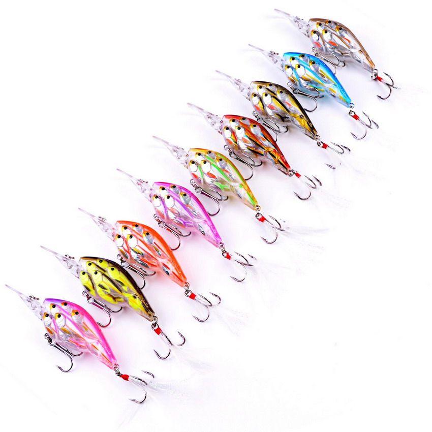 9pcs 9cm 12.5g Hot Sales Group 9 Colors Fishing Slow Sink Group Of Fish Baits Wobbler Bait Swim