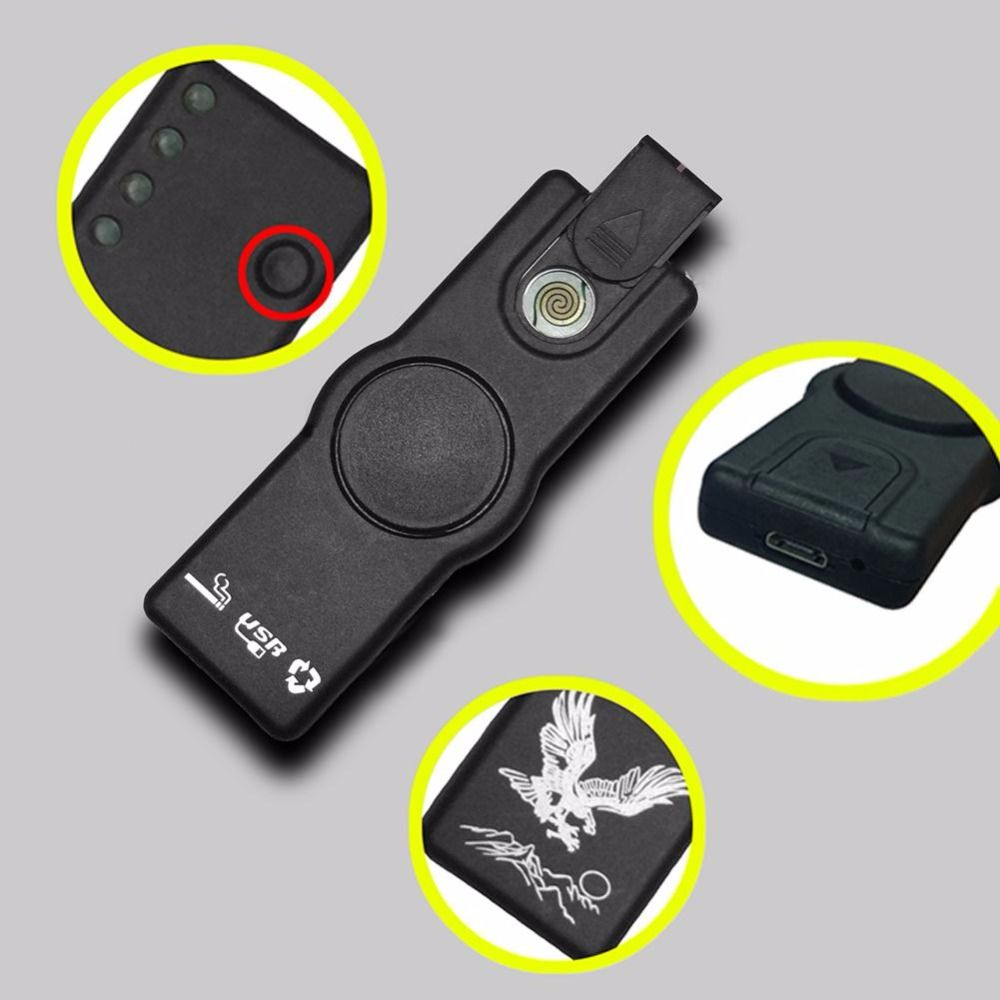 Fidget Spinner USB Lighting Cigarette Lighter Gyro Hand Spinner For Autism and ADHD Rotation Time Long Anti Stress