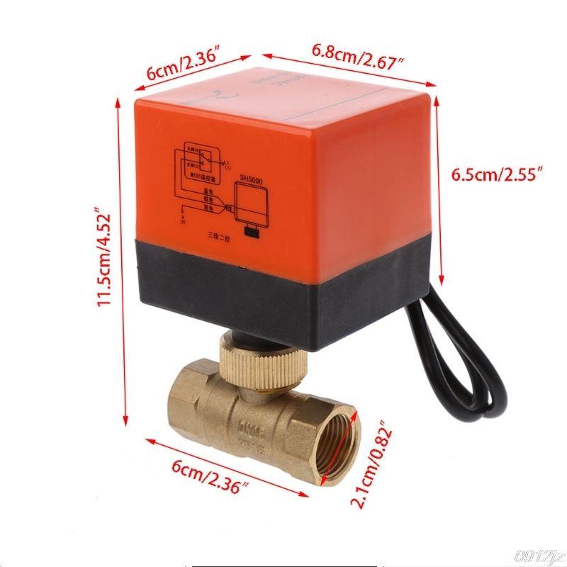 DN15/DN20/DN25 vanne à boisseau sphérique en laiton motorisé électrique DN20 AC 220V 2 voies 3 fils avec actionneur nouvelle livraison directe Dls portable