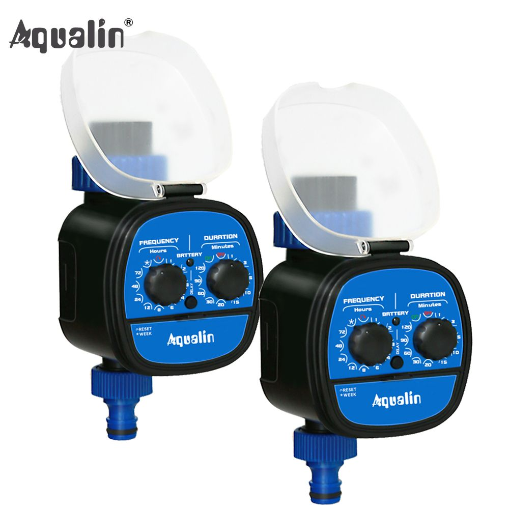2pcs High Quality Ball Valve Electronic Automatic Garden Home Irrigation System Water Timer With Delay Function #21049-2