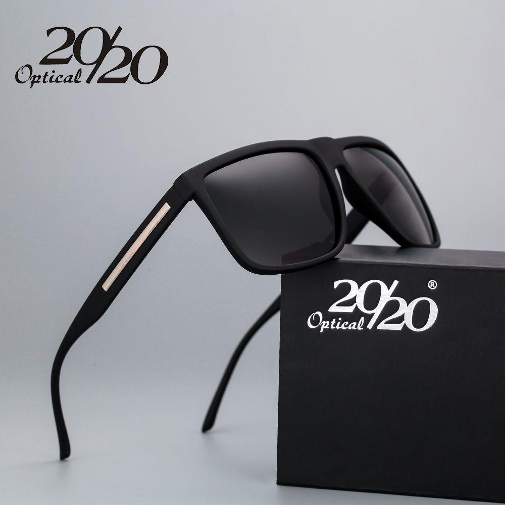 20/20 Marque De Mode Noir lunettes de Soleil Hommes Polarisée Conduite Lunettes de Soleil Mode Masculine Oculos Gafas Lunettes PL207