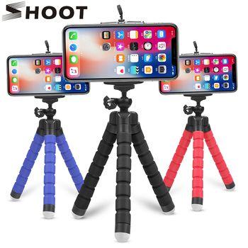اطلاق النار مصغرة الأخطبوط حامل حامل ثلاثي القوائم ل الهاتف المحمول مع الهاتف قاعدة تركيب مزودة بمشبك ل Xiaomi 8 iphone X 7 هواوي GoPro العمل كاميرا
