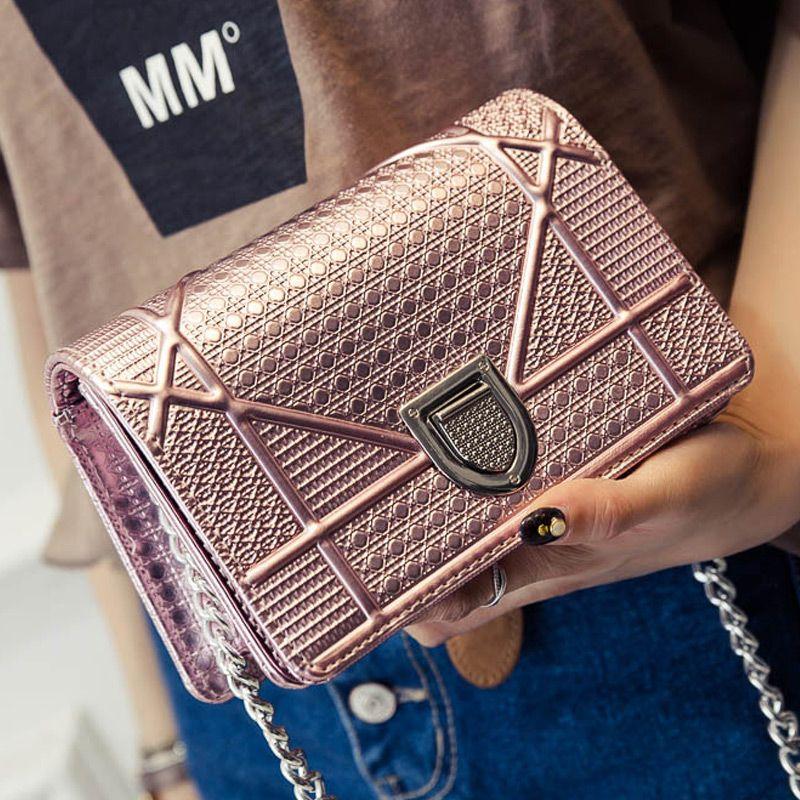 New European and American Exclusive Chain Shoulder Bag Trendy Shield Lock Crossbody Bags Women Messenger Bags 608