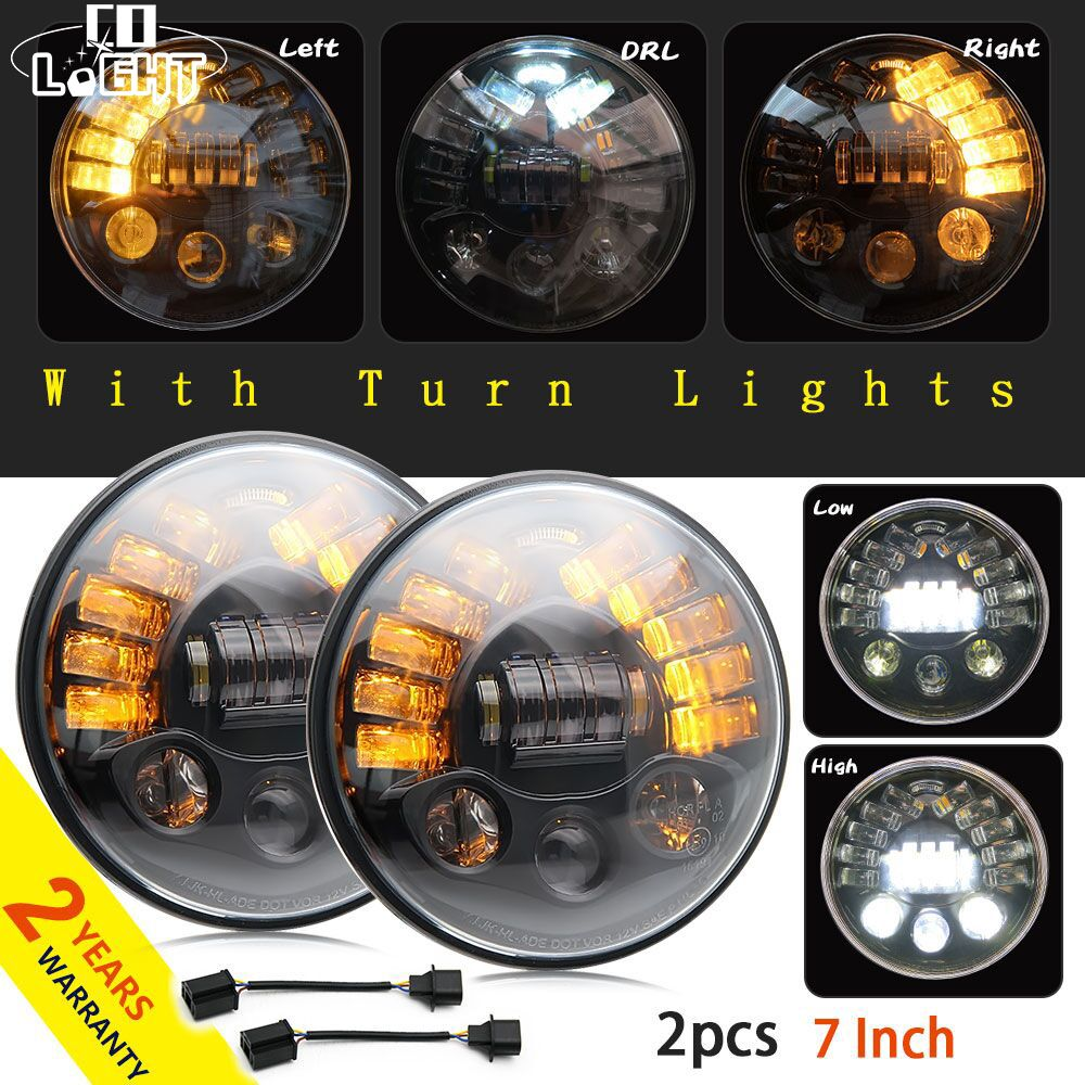 CO LIGHT 2PCS Drl Led 70W Headlight 40W Stop Signal Running Lights Led Lamp For Auto Niva 4X4 Lada Jeep Car Accessories Hunting