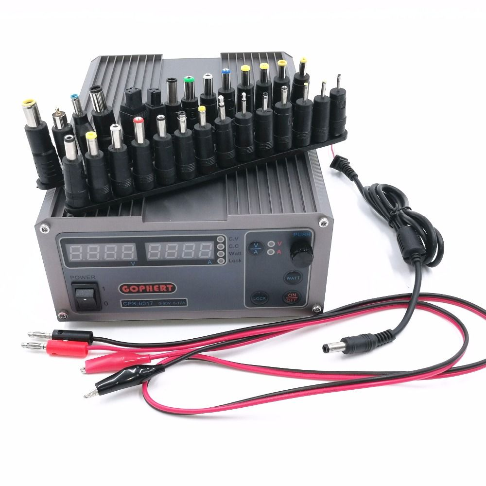High Power Digital Adjustable DC Power Supply CPS-6017 1000W 60V 17A Laboratory power supply with 28pcs Laptop Power Adapter