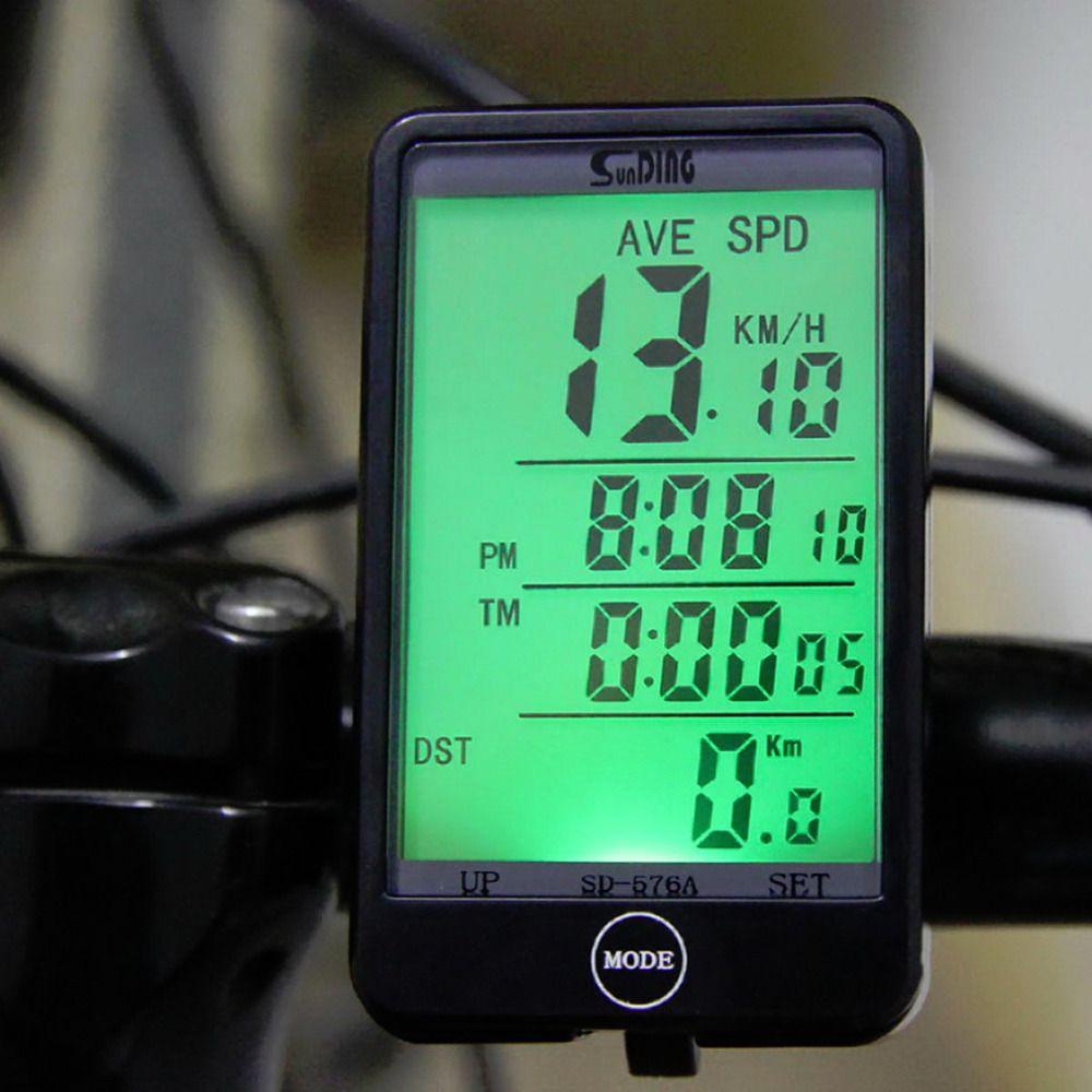 Heißer Verkauf SD-576A Wasserdichte Auto Bike Computer Licht Modus Touch Wired Fahrradcomputer Radfahren Tachometer mit Lcd-hintergrundbeleuchtung