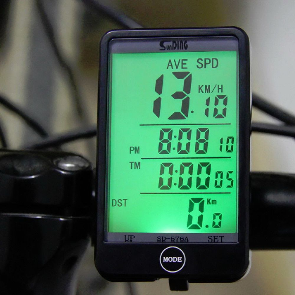 Hot Sale SD - 576A Waterproof Auto Bike Computer Light Mode Touch Wired Bicycle Computer Cycling Speedometer with LCD Backlight
