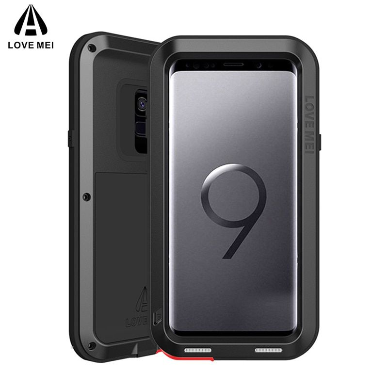 Love Mei Hybrid Tough Heavy Metal Shockproof Armor Case For Samsung Galaxy S9 S9 Plus S8 Plus Note 8 Protective Cover