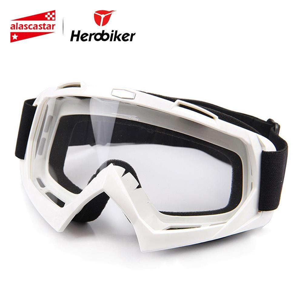 HEROBIKER moto équitation lunettes Ski Snowboard Skate lunettes Motocross tout-terrain Dirt Bike descente Enduro étanche à la poussière lunettes