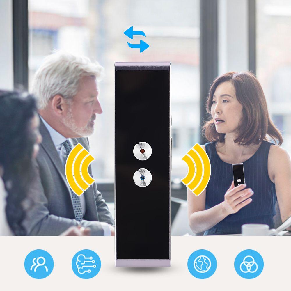 2.4G Optical Wireless <font><b>Language</b></font> Voice Translator Bluetooth Portable Real Time Smart Translation Translator Support 40 <font><b>Languages</b></font>