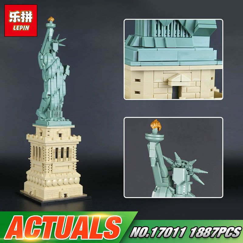 Lepin 17011 Architecture Toys The 21042 State of Liberty Set Building Bricks Blocks Funny New Kids Toys Birthday Christmas Gifts