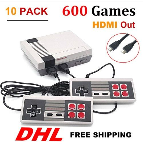 10PCS HDMI HD Out Mini TV Retro Classic handhel Game Console Video Game Console with 500 /600 Different Built-in Games P / N