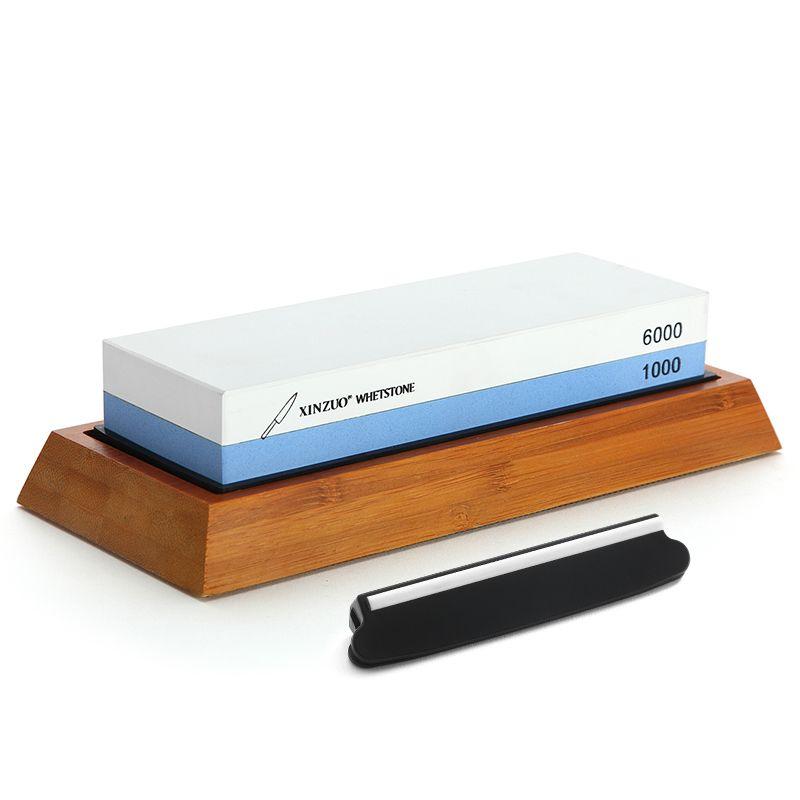 XINZUO Double face 1000/6000 grain Whetstone aiguiseur professionnel affûtage meulage pierre cuisine couteau accessoires