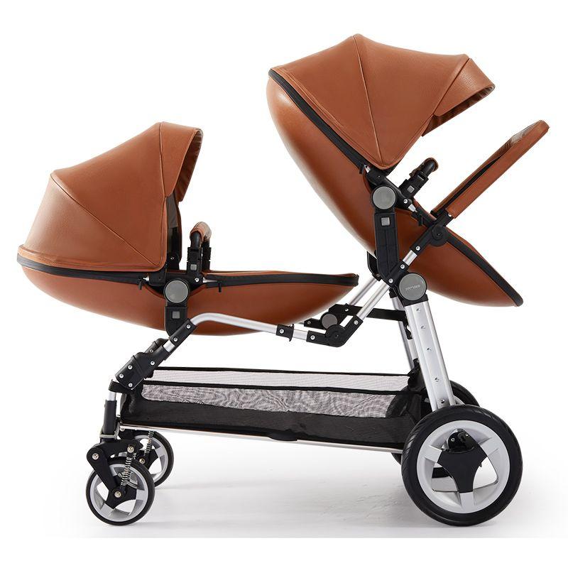 Semaco leichte, hohe landschaft, twin kinderwagen, vorne und hinten sitze, können hinlegen und kann sitzen, twin