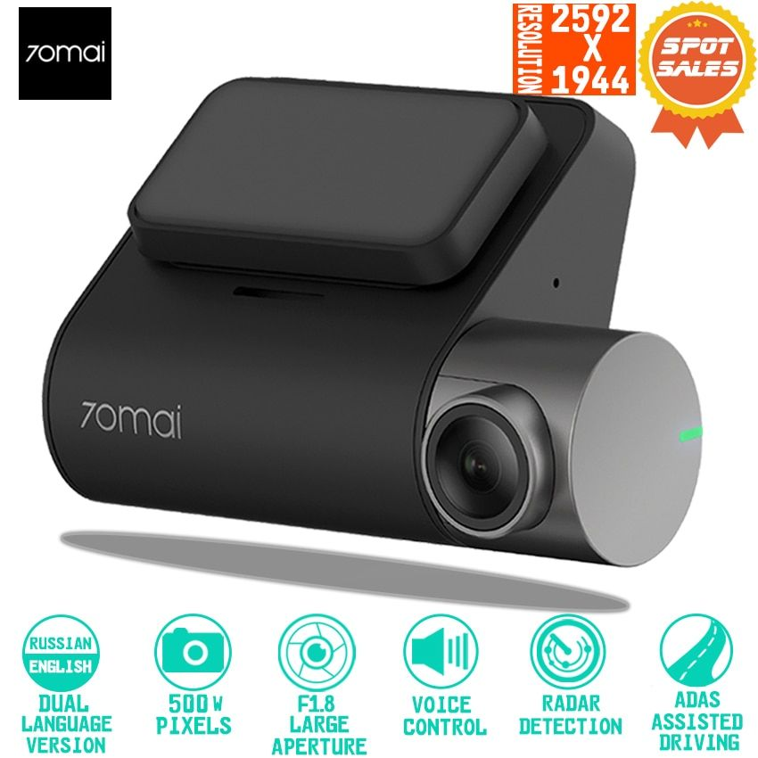 70mai Dash Cam Pro Smart Car 1944P HD Video Recording With GPS ADAS WIFI Function 140 FOV Camera English Voice Control