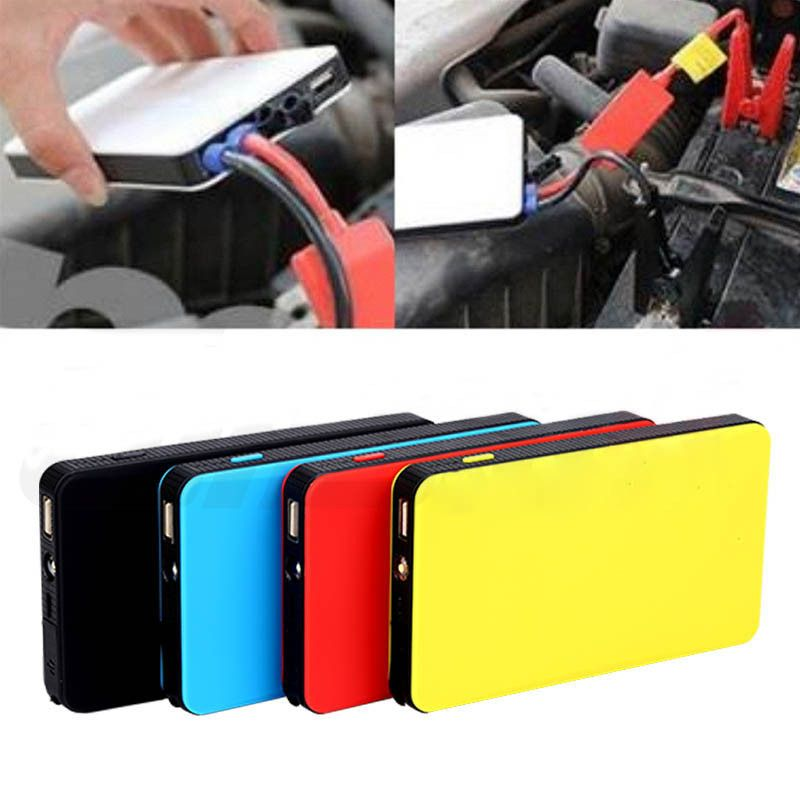Portable 12V <font><b>8000mAh</b></font> Multi-Function Car Emergency Power Supply Charger Power Bank Jump Starter Booster For Samsung Andorid