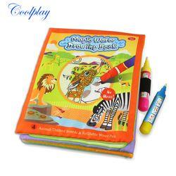 Tidak Beracun Mewarnai Sihir Air Menggambar Buku & 2 Pulpen Tema Hewan Dapat Digunakan Kembali Lukisan Papan Mainan untuk Anak-anak 21 CM * 17 Cm)